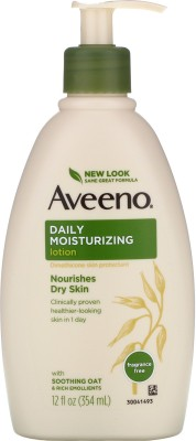 Aveeno Daily Moisturizing Body Lotion for Dry Skin Fragrance Free 354 ML MADE IN CANADA(354 ml)