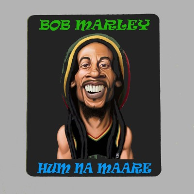 savi crafts Bob Marley 01 Mousepad Multicolor