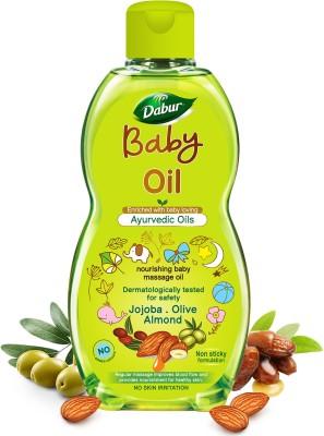 Dabur Baby Oil Contains Jojoba, Olives & Almonds|pH balanced with No Paraben & Phthalates (200 ml)