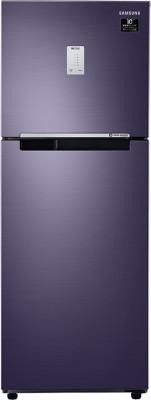 Samsung 253 L Frost Free Double Door 3 Star (2020) Refrigerator(Pebble Blue, RT28T3453UT/HL)
