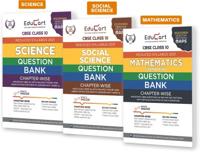 Educart CBSE Class 10 Science , Maths And SST Question Bank Combo Pack For 2021 Exam(Paperback, Educart)