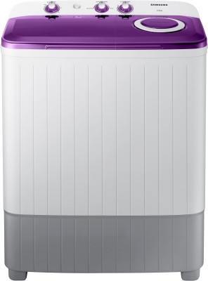SAMSUNG 6 kg 5 star with Center Jet Technology Semi Automatic Top Load White, Grey, Purple(WT60R2000LL/TL)