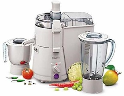 SUJATA Powematic Plus Juicer Mixer Grinder 900 Juicer Mixer Grinder(White, 2 Jars)