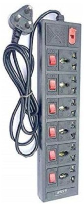 mehak electronic 6+6 extension cord 6 Socket Extension Boards Black mehak electronic Computer Peripherals