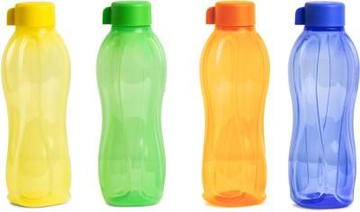 Tupperware Aquasafe Water Bottle 1000 ml Bottle(Pack of 4, Orange, Green, Blue, Yellow, Plastic)