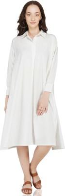 KILKI Women A-line White Dress