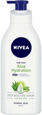 NIVEA Body Lotion, Aloe Hydration(600 ml)
