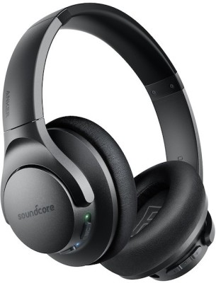 Soundcore Life Q20 With Hybrid Active Noise Cancellation Bluetooth Headset  (Black, On the Ear)
