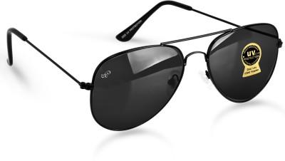 PIRASO Aviator Sunglasses(For Men & Women, Black)