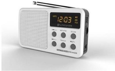 Ultraprolink Retro multimedia speaker 3 W Home Theatre  White, 2.1 Channel  MP3 Player White, 2.1 Display