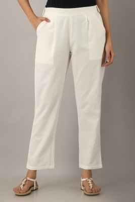 yell-oh! Regular Fit Women White Trousers