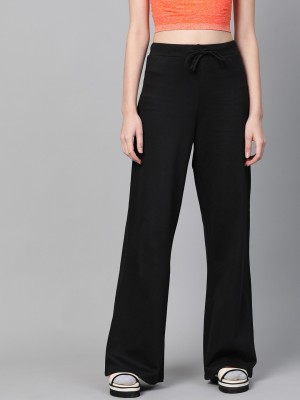 SASSAFRAS Relaxed Women Black Trousers
