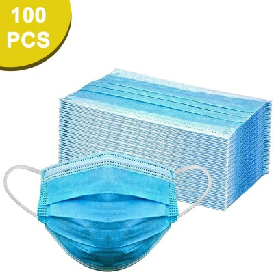 Sugero ISO Certified 100 Units Disposable 3 Ply Pharmaceutical Breathable Surgical Pollution Face Mask with 3 Layer Filtration For Men,...