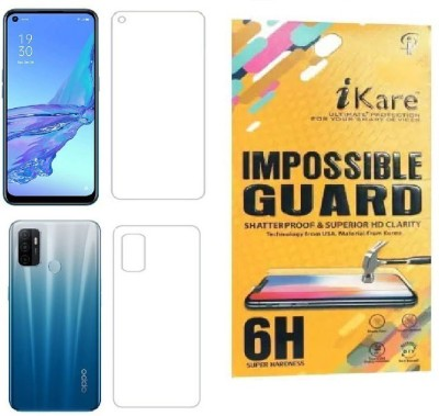 iKare Front and Back Screen Guard for Oppo A53(Pack of 2)