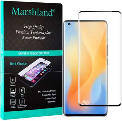 Marshland Tempered Glass Guard for Vivo X50 Pro, 3D Curved(Pack of 1)
