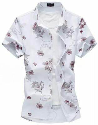 FABFIZA Cotton Silk Blend Printed Shirt Fabric(Unstitched)