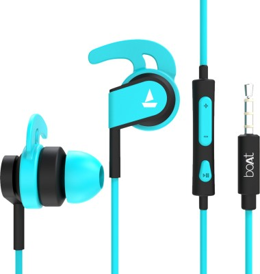 boAt Bassheads 242 Wired Headset(Blue, In the Ear)
