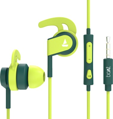 BoAt Bassheads 242 Wired Headset(Neon Green, In the Ear)