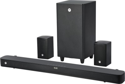 Motorola AmphisoundX Full Wireless 200 W Bluetooth Soundbar(Black, 5.1 Channel)