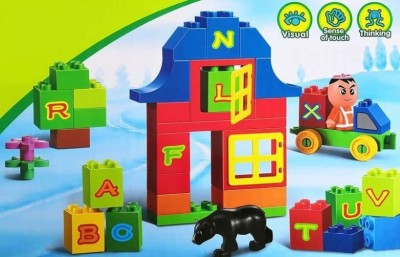Kiddoo 66 Pieces Block Construction Set for Early Learning of Kids Multicolor Kiddoo Blocks   Building Sets