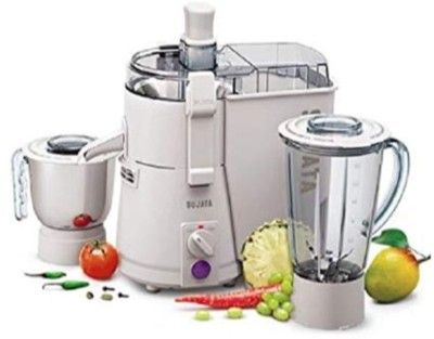 SUJATA Pro Powermatic Plus With Chutney Jar 900 Juicer Mixer Grinder(White, 2 Jars)