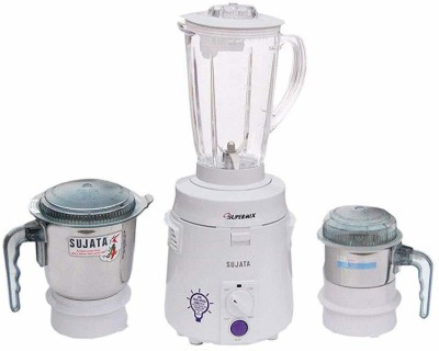 SUJATA SuperMix SM 900-Watt Mixer Grinder with 3 Jars 900 Juicer Mixer Grinder(White, 3 Jars)