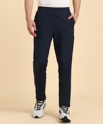 Asics Solid Men Dark Blue Track Pants