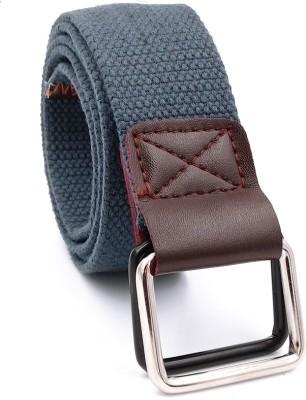 ZAPT Men Casual, Formal Blue Canvas Belt