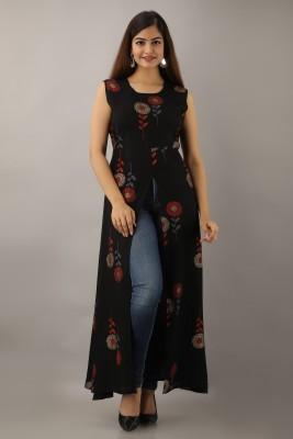 Purshottam Wala Women Fit and Flare Black Dress