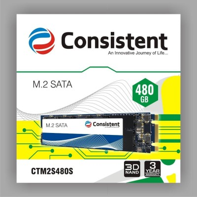 Consistent Sata3 480 GB Laptop, Desktop, All in One PC's Internal Solid State Drive (M2)