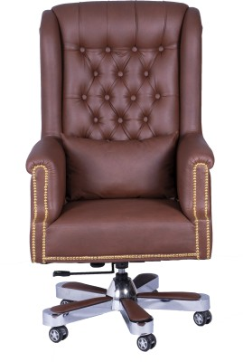 Fort Maharaja Chair Leatherette Office Executive Chair(Brown)