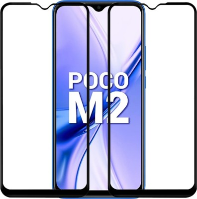 Micvir Edge To Edge Tempered Glass for Poco M2, Mi Redmi 9 Prime(Pack of 2)
