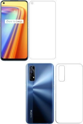 Fashion Way Front and Back Screen Guard for REALME 7(Pack of 2)