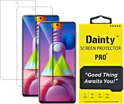 Dainty Tempered Glass Guard for Samsung Galaxy F62, Samsung Galaxy M51, Samsung Galaxy A71, Samsung Galaxy Note 10 Lite(Pack of 2)