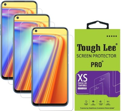 TOUGH LEE Tempered Glass Guard for Realme Narzo 30 Pro 5G, Realme Narzo 30 Pro, Realme 7, Realme 7i, Realme Narzo 20 Pro, Realme 6, Realme 6i(Pack of 3)
