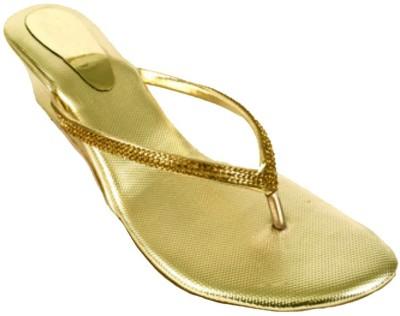 Sona Mona Creations Women Gold Wedges