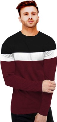 FastColors Solid Men Round Neck Maroon T-Shirt