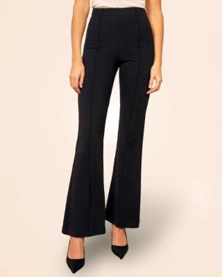 DARZI Regular Fit Women Black Trousers