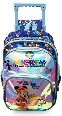 POLO CLASS Blue Mickey Mouse printed School Bag Trolley 23 L Trolley Backpack(Blue)