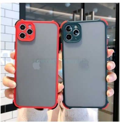 LOWCOST ASM Back Cover for Iphone 11 Pro Max(Red, Camera Bump Protector)