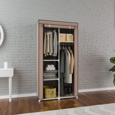 Flipkart Perfect Homes Studio PP Collapsible Wardrobe(Finish Color - Brown)