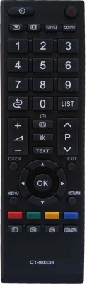 ComC Remote Control Model No CT-90336 Remote Control Compatible for  LED LCD HD TV Toshiba Remote Controller(Black)