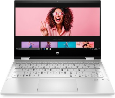 HP Pavilion x360 Core i3 11th Gen - (8 GB/256 GB SSD/Windows 10 Home) 14-dw1036TU 2 in 1 Laptop(14 inch, Natural Silver, 1.61 kg, With MS Office)