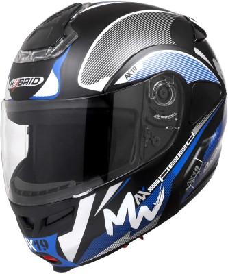 HEADFOX HY SMART BLUETOOTH Car Racing Helmet(Blue, Black)