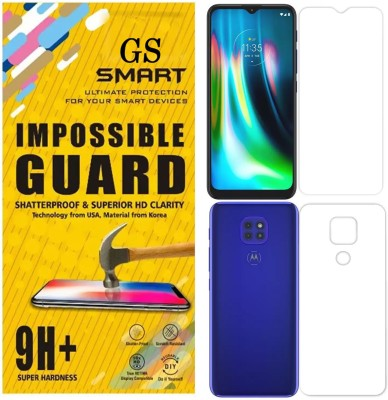GS SMART Front and Back Screen Guard for MOTOROLA MOTO G9 {Flexible}(Pack of 2)