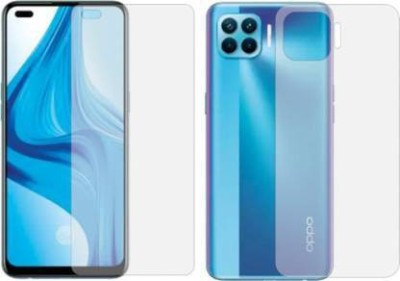 FIRST IMPRESSION Front and Back Tempered Glass for Oppo F17 Pro(Pack of 2)
