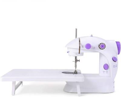 Onshoppy Mini Sewing Machine for Beginners Portable Electric Sewing Machines with Extension Table, with 10 Thread Spools Electric Sewing Machine( Built-in Stitches 12)