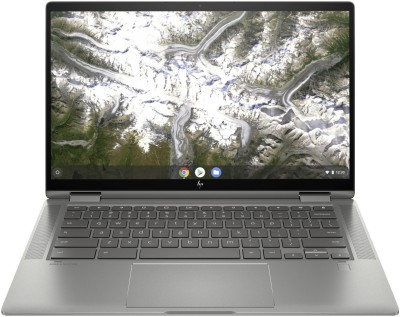 HP Chromebook x360 Core i3 10th Gen - (8 GB/128 GB EMMC Storage/Chrome OS) 14c-ca0005TU Chromebook(14 inch, Mineral Silver, 1.65...
