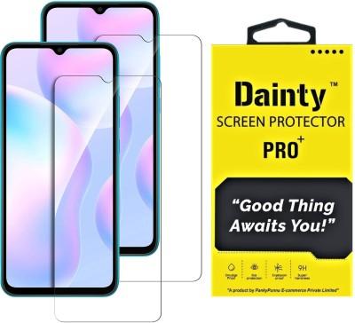 Dainty Tempered Glass Guard for Poco M3, Poco M2, Mi Redmi 9 Prime, Mi Redmi 9, Mi Redmi 9 Power(Pack of 2)