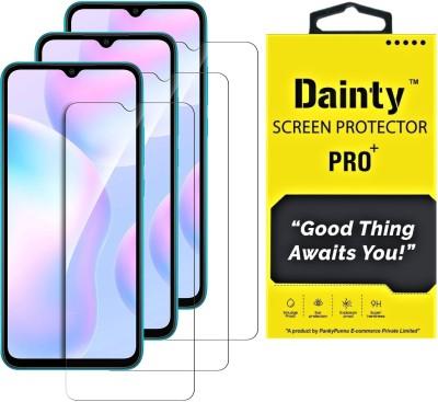 Dainty Tempered Glass Guard for Poco M3, Poco M2, Mi Redmi 9 Prime, Mi Redmi 9, Mi Redmi 9 Power(Pack of 3)